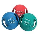Cando _ moldeado doble asa balón medicinal–13,2kg (6kg), color verde