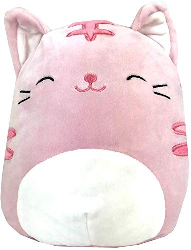 JGT Kids Toddlers Babies Squishmallows Animal (Bonus Ja'Cor Exclusive Squishy Stress Gear) ~ (1) 8 Inch Pink Tabby Cat ~ Super Soft Plush Stuffed Toy Pillow Pet Squeezable Pillow Pal ~ Bundle of 2