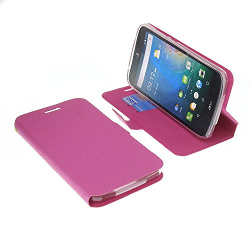 foto-kontor Tasche für Acer Liquid Z630 Liquid Z630S Liquid M630 Book Style pink Schutz Hülle Buch