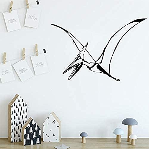 TJVXN Habitación de los niños con Dinosaurio Pegatinas de Vinilo ecológicas decoración del hogar Pegatinas de Pared Decorativas 62X42cm