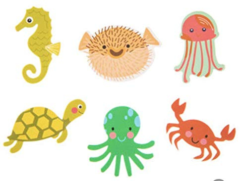 234 Piece Under The Sea Foam Stickers- Seahorses, Jelly Fish, Turtles, Crabs, and More!