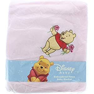 Disney Baby Winnie The Pooh Fleece Blanket Pink