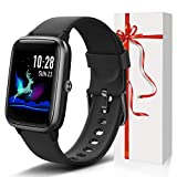 Lintelek Smart Watch with 1.3' LCD Full Touch Screen, Large Screen Fitness Tracker with Heart Rate Monitor, Pedometer, Sleep Tracker, Waterproof Activity Tracker for Men, Women and Gift