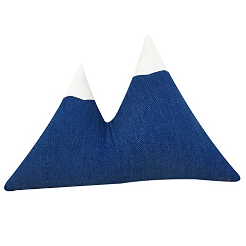 Nunubee Wolkenform Bergform zierkissen mit Füllung Kinderspielzeug Spielzeug deko Kissen Wohnzimmer Sofa Office Dekorative, Kleines Dreieck 47 * 31CM