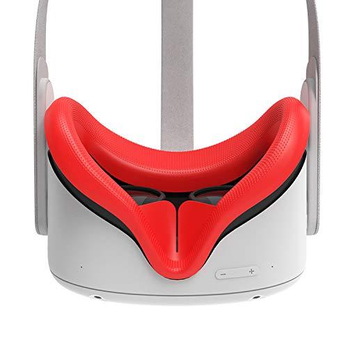 AMVR VR - Funda facial de silicona para auriculares Oculus Quest 2, re