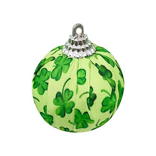 Moent Bola de tela para da de San Patricio, Festival irlands trbol de cuatro hojas, decoracin de trbol de Navidad, adornos de fiesta de primavera de ao nuevo (verde, 8 unidades)