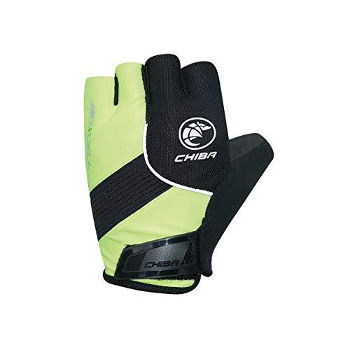 Chiba Gloves Unisex-Erwachsene BioXCell Classic Bike Gloves Neon Yellow Medium Fahrrad-Handschuhe, gelb