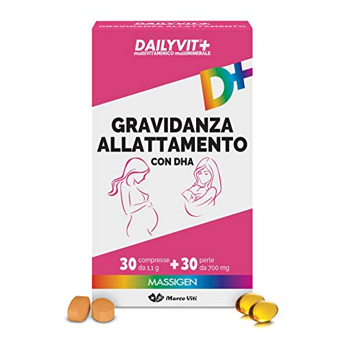 MASSIGEN Daylyvit, Multivitaminico e Multiminerale per Gravidanza e Allattamento, 54 g