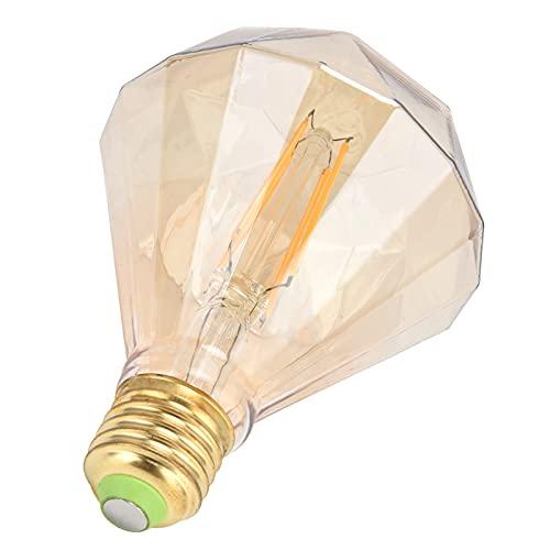Lampadina E27, E27 Portalampada a vite Design Lampadina dimmerabile per parti di lampade da esterno per parti di lampade per utensili elettrici per lampade domestiche(oro, rosa)