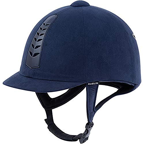 Dublin Silver Pro Riding Hat 53cm Navy