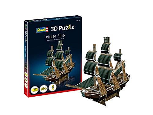 Revell- Barco Pirata 3D Puzzle, Multicolor (00115)