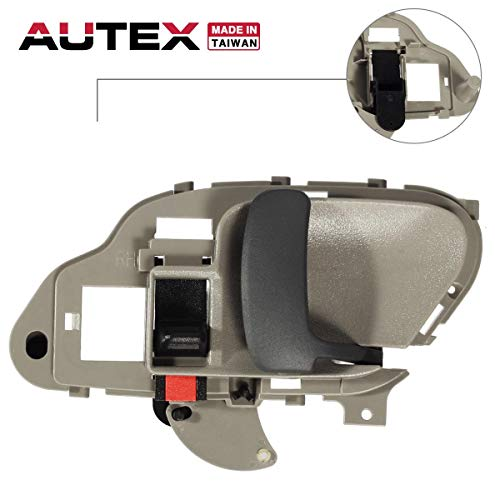 AUTEX Interior Front/Rear Right Door Handle Passenger Side Compatible with Chevrolet,GMC Suburban C/K 1500 2500 3500 Pickup Truck,Chevy Tahoe,GMC Yukon 1995-2002 77186