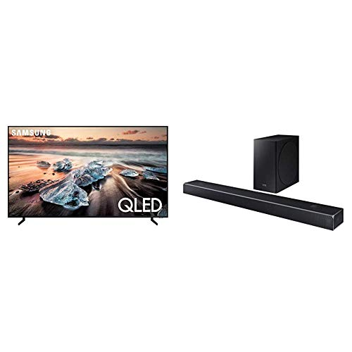 "Samsung QN82Q900RBFXZA Flat 82"" QLED 8K Q900 Series Smart TV (2019) With HW-Q80R Samsung Dolby Atmos Q80R Series Soundbar"