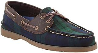 Men's Sperry, Leeward Boat Shoe Black Plaid
