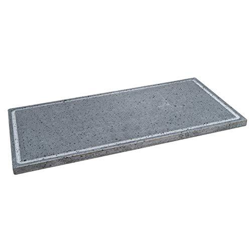 Etna Stone & Design Lava Grill - Parrilla de piedra volcánica etnea, placa lijada, 60 x 30 cm, para horno y barbacoa, cocción de carne, pescado, verduras y pizza