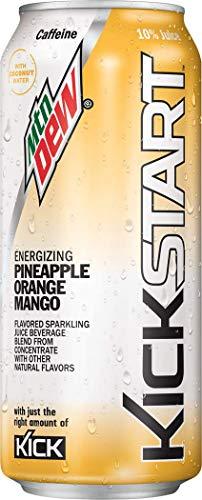 Mountain Dew Kickstart Pineapple Orange Mango 16 Fl Oz 12 Count