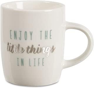 Pavilion Gift Company 89223 Enjoy The Little Things Mini Espresso Mug, 5 oz