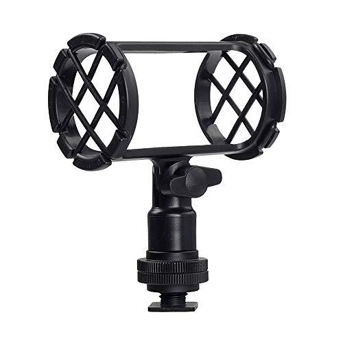 BOYA BY-C04 - Soporte para micrófono de cámara con zapata fría compatible con AKG D230 Senheisser ME66 Rode NTG-2 NTG-1 Audio-Technica AT-875R