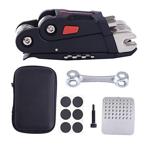 COZYROOMY Multi-Tool Fahrrad Reparatur Set - Fahrrad Werkzeug Set mit Fahrrad Multitool (mit Kettenwerkzeug) Und Reifenreparatur Werkzeug Fahrrad Tragbares Werkzeug Bag