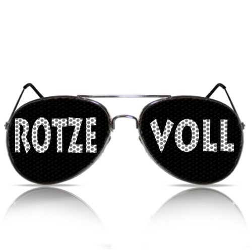 Rotze Voll Malle Fasching Sonnenbrille Party Spass Mallebrille Nerd Mallorcabrille Porno Atzenbrille Partygag Funbrille Fasching Karneval Rotze Voll (Pilot)