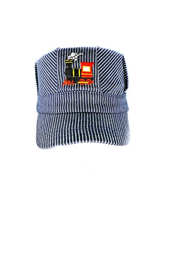 Young Boys Choo Choo Train Embroidered Steam Engine Train Engineer Hat with I❤️ Trians