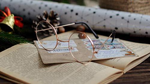 Pintura por número para adultos,kit de pintura DIY por número para principiantes o niños como regalo (16 x 20 in.) sin marco-gafas,libro,sobre,decoración,año nuevo,navidad
