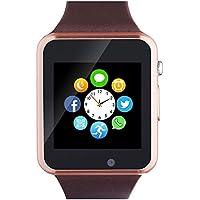 Aeifond Bluetooth Touch Screen Smart Wrist Watch with Camera Pedometer SIM TF Card Slot (Brown)