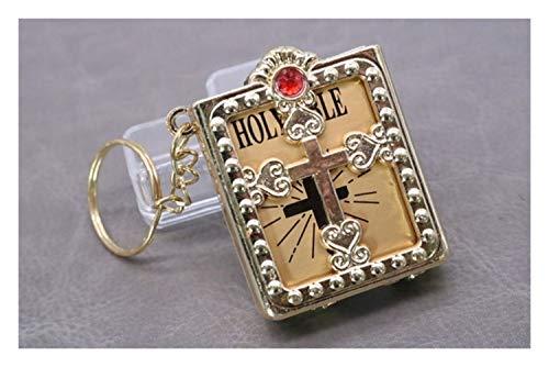 LSBXWL Kreuz Jesus Bibel-Plastikkasten-Schlüsselanhänger Christian Koran Königs Papier lesen Anhänger Auto-Schlüsselring Religiöser Schmuck (Color : Ddysk0012)