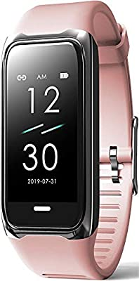 Innepaxe Fitness Tracker with Blood Pressure and Heart Rate Monitor - Waterproof Activity Tracker Pedometer with Step Counter Calorie Counter and Sleep Tracking - Fitness Tracker for Men Women – Pink