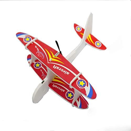 Ogquaton Biplane Modelli Aerei Schiuma Ricaricabile Elastico Alimentato Bambini Fun Set per Famiglia Elettrica Alta Qualità