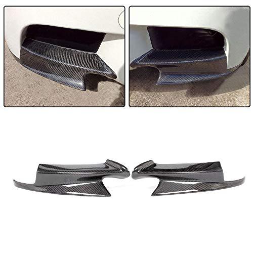 JC SPORTLINE fits BMW 3 Series M3 E90 E92 E93 2Door 4Door 2008-2014 Carbon Fiber Front Splitters Lip Spoiler Flap Winglet (Honda Accord 2dr Carbon Fiber)