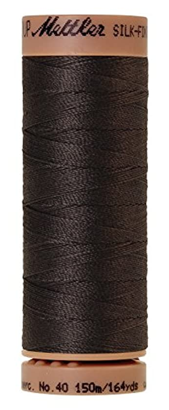 Mettler Silk-Finish 40 Weight Solid Cotton Thread, 164 yd/150m, Charcoal jwup05303