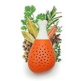 OYZK Filtro de condimento de Garabato de Pata de Pollo Creativo, Herramienta de Sopa de Cocina Desmontable de Silicona Naranja, 2.7 × 5.5 Pulgadas