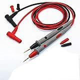 HANBIN Cable de prueba 20A rojo + juego negro aguja extra fina chapada en oro 1000V 20A 3 pairs