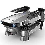 HJRBM Drones GPS con cámara para Adultos Tiempo de Vuelo Largo 4K HD Video FPV Drone Quadcopter Drone para Principiantes 2500Mah Batería Motor sin escobillas