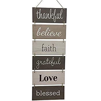 Hanging Wall Décor Sign - Welcome Vertical Wall Art Decorations Rustic Home Farmhouse Accessories for Living Room Bedroom Bathroom Family Dining and Kitchen Signs for House Decoration Plaque