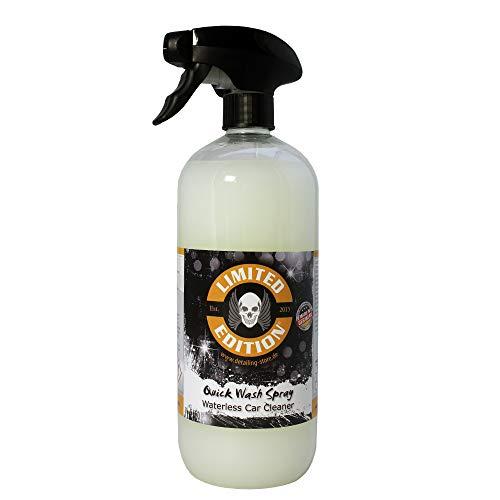 Limited Edition - Trockenreiniger - Quick Wash Spray - Waterless Car Cleaner für Lack und Folie - Ohne Wasser Auto waschen - für Innen und Außen - Mango Duft… (1,0 Liter)