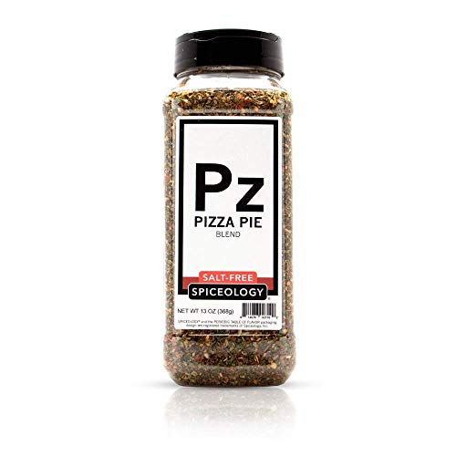 Spiceology - Pizza Pie Salt Free Seasoning - 13 oz - Use On: French fries, Pulled Pork, Chicken, Beef, Pizza, Bread, Chili, Mac n' Cheese.