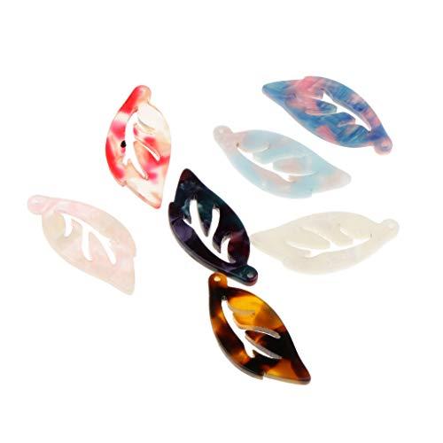IPOTCH 7pcs Farbe Sortiert Acetat Acrylfolie Anhänger DIY Ohrring Clip Clipart