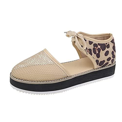 Sandalias para Mujer Malla Plataforma Ligero Zapatillas Sneaker Casual Zapatos de Deporte Mocasines Verano Sandalias Informales con Tiras