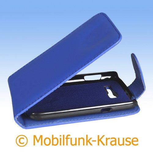 Mobilfunk Krause - Flip Case Etui Handytasche Tasche Hülle für Samsung GT-S7390 / S7390 (Blau)