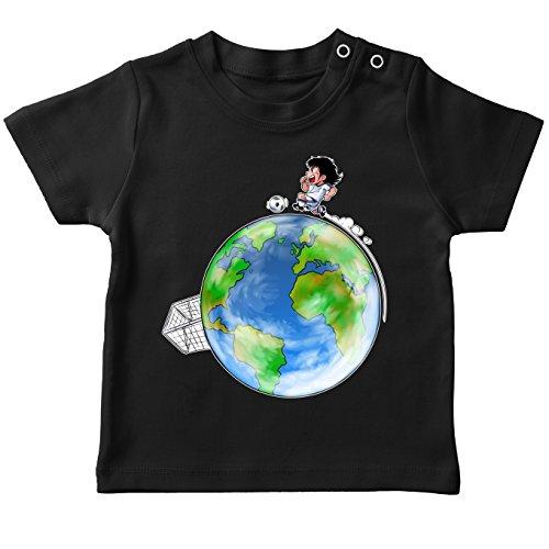T-Shirt bébé Noir Olive et Tom - Captain Tsubasa parodique Olivier Atone : Le Plus Grand Terrain de Foot du Monde : (Version Collector) (Parodie Olive et Tom - Captain Tsubasa)