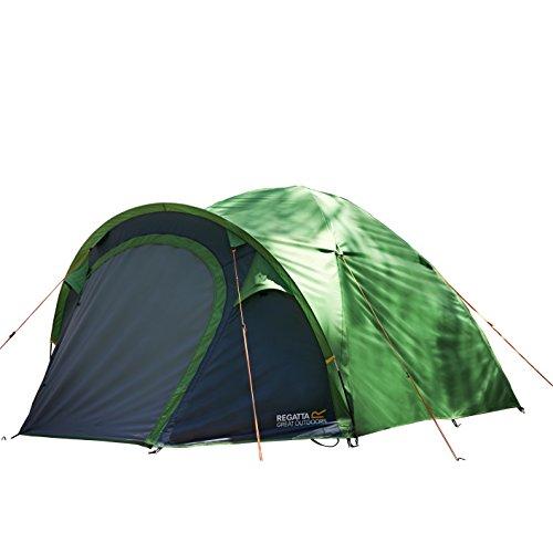 Regatta RCE164 Kivu 3 V2 Tente Mixte Adulte, Extrem Green/Seal Grey