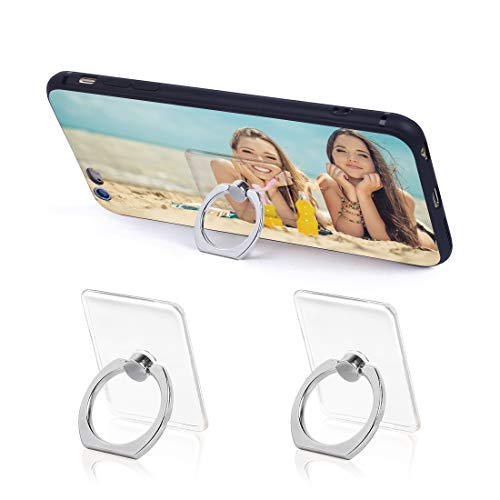 Phone Ring Holder Phone Ring Transparent Ring Holder for Cell Phone 360 Degree Rotation and 180 °Flip Phone Ring Grip Finger Ring Stand Kickstand Compatible Various Mobile Phones (Silver) (Silver)