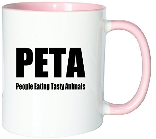 Mister Merchandise Kaffeetasse Becher PETA - People Eating Tasty Animals Teetasse