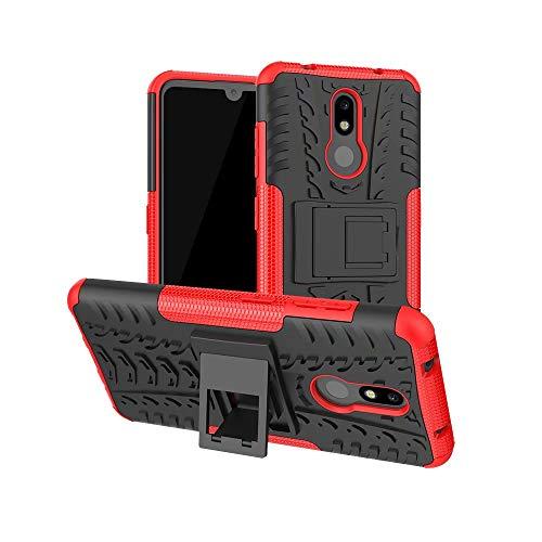 Carcasa rígida para Sony Xperia L3, resistente a los golpes, con soporte, para Sony Xperia L3, rojo