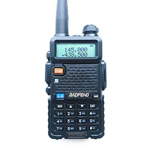 Radtel Walkie Talkie UV-5R Radio Portátil (Doble Banda, FM, Codificación DTMF, Códigos de Privacidad CTCSS), Negro