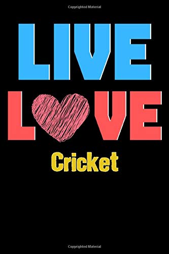 Live Love Cricket - Cute Cricket Writing Journals & Notebook Gift Ideas: Lined Notebook / Journal Gift, 120 Pages, 6x9, Soft Cover, Matte Finish