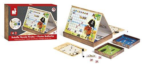 Janod - J02835 - Buque de guerra de piratas, juego familiar tocado...
