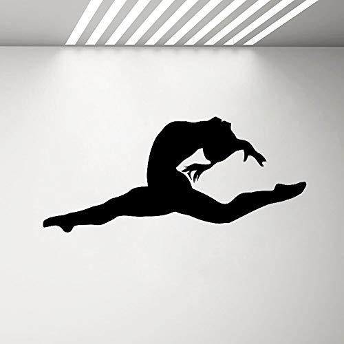 yaonuli gymnastiek muursticker meisjes slaapkamer oefening fitness yoga vinyl sticker dansstudio wanddecoratie slaapkamer